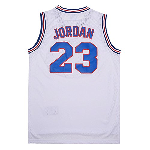MEBRACS Mens 23# Bunny Space Movie Jersey Basketball Jersey Shirts for Party S-XXXL (White, Large)
