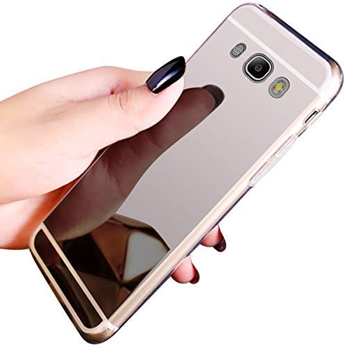 QPOLLY Compatible con Samsung Galaxy J5 2016 Funda Glitter Bling Brillante Enchapado...