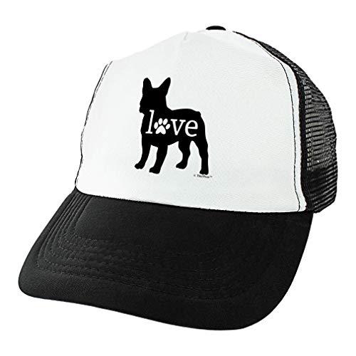 Frenchy Dog Gifts French Bulldog Trucker Hat French Bulldog Love Paw Print Dog Breed Hat Trucker Hat Black