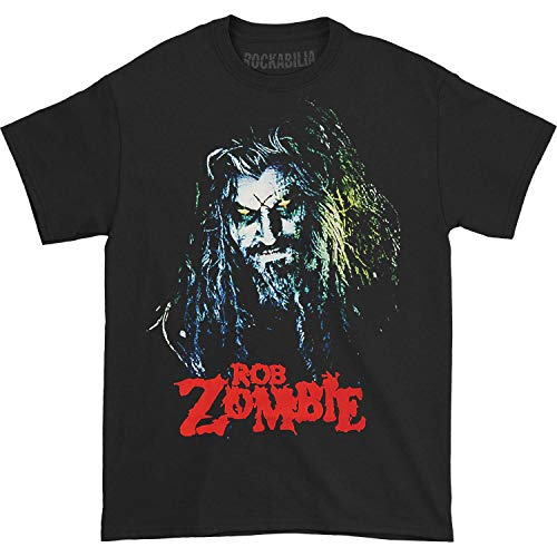 GLOBAL Rob Zombie Men's Hell Billy Head T-Shirt,Black,Medium