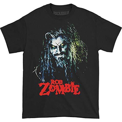 GLOBAL Rob Zombie Men's Hell Billy Head T-Shirt,Black,Medium