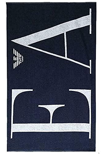 Emporio Armani swimwear Towel Brand Evidence Prova del Marchio di Asciugamani, Black, Uni Unisex-Adulto