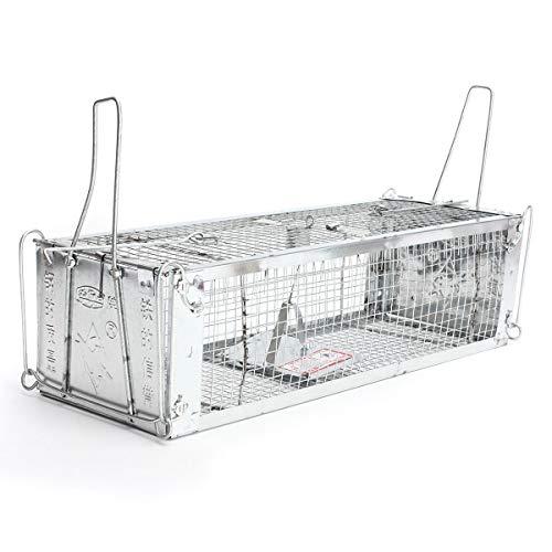 Meijin Equipo eléctrico de dos puertas Humane Live Animal Cage Trampa para...