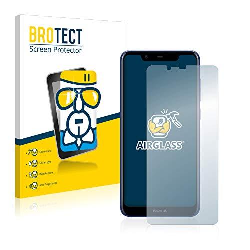 BROTECT Panzerglas Schutzfolie kompatibel mit Nokia 5.1 Plus 2018 - AirGlass, extrem Kratzfest, Anti-Fingerprint, Ultra-transparent