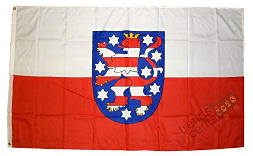 MM Thüringen Flagge/Fahne, 150 x 90 cm, wetterfest, mehrfarbig, 16205