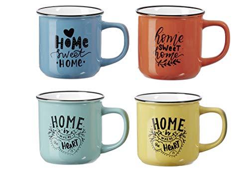 Ritzenhoff & Breker Kaffee-Serie Home Größe 4er Set Kaffeebecher 330 ml Home