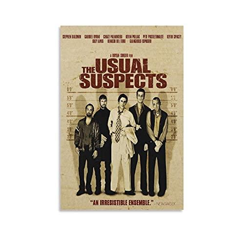 Póster de The Usual Suspects 5 Mystery Thriller - Lienzo decorativo para pared, diseño de la sala de estar, marco sin marco de 20 x 30 cm