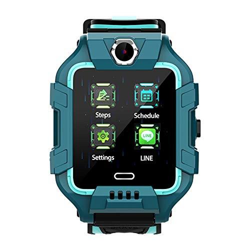 N/P Montre Intelligente pour Enfants, étanche 4g GPS + lbs + WiFi Fitness Tracker, Montre de Sport rotative à 360 degrés avec écran Couleur de 1,4 Pouces, appels vidéo en Temps réel