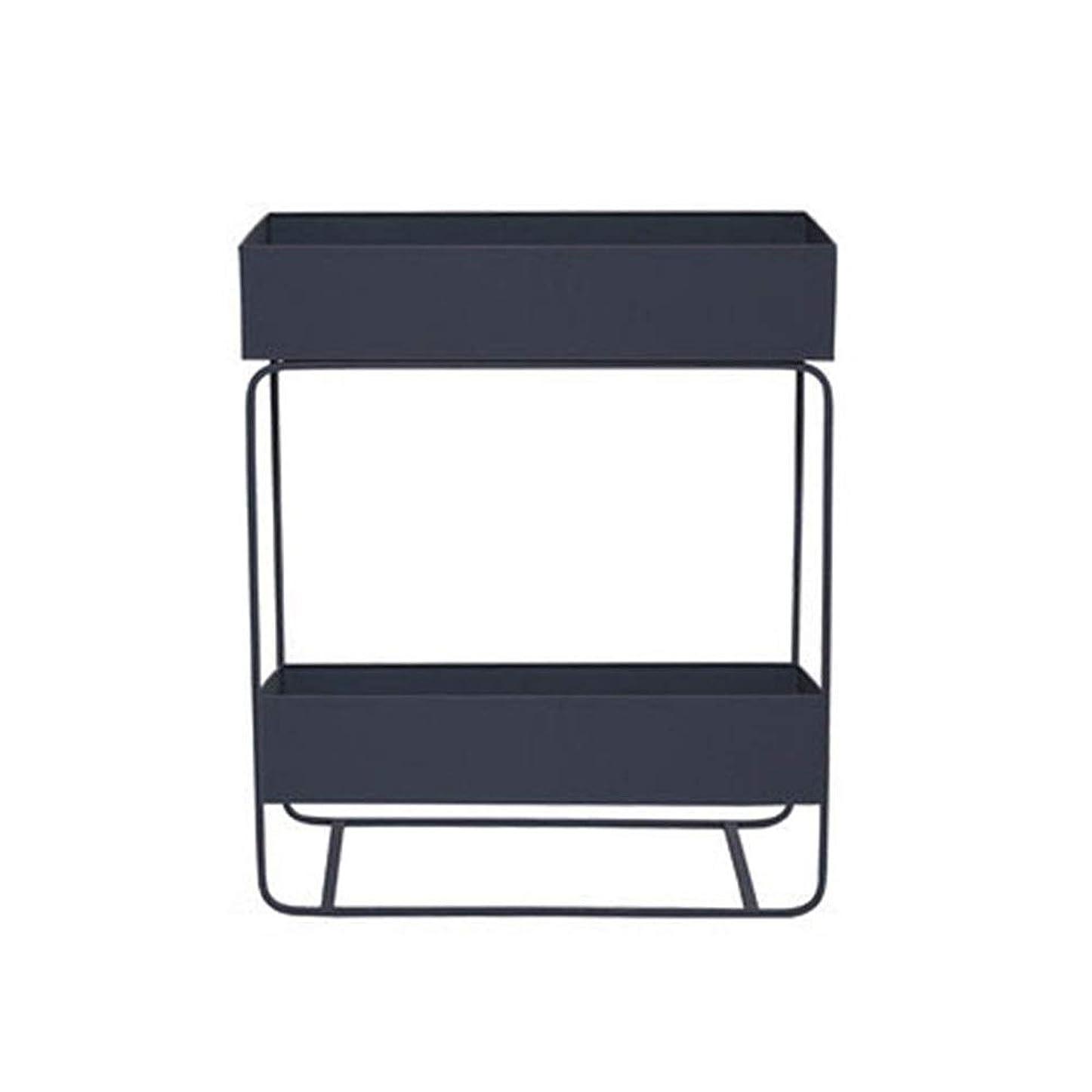 抜粋論理おとなしい棚 2層収納棚調節可能フロアリビングルームキッチン独立多機能 屋内と屋外 (色 : グレー, サイズ : 25*60*74cm)