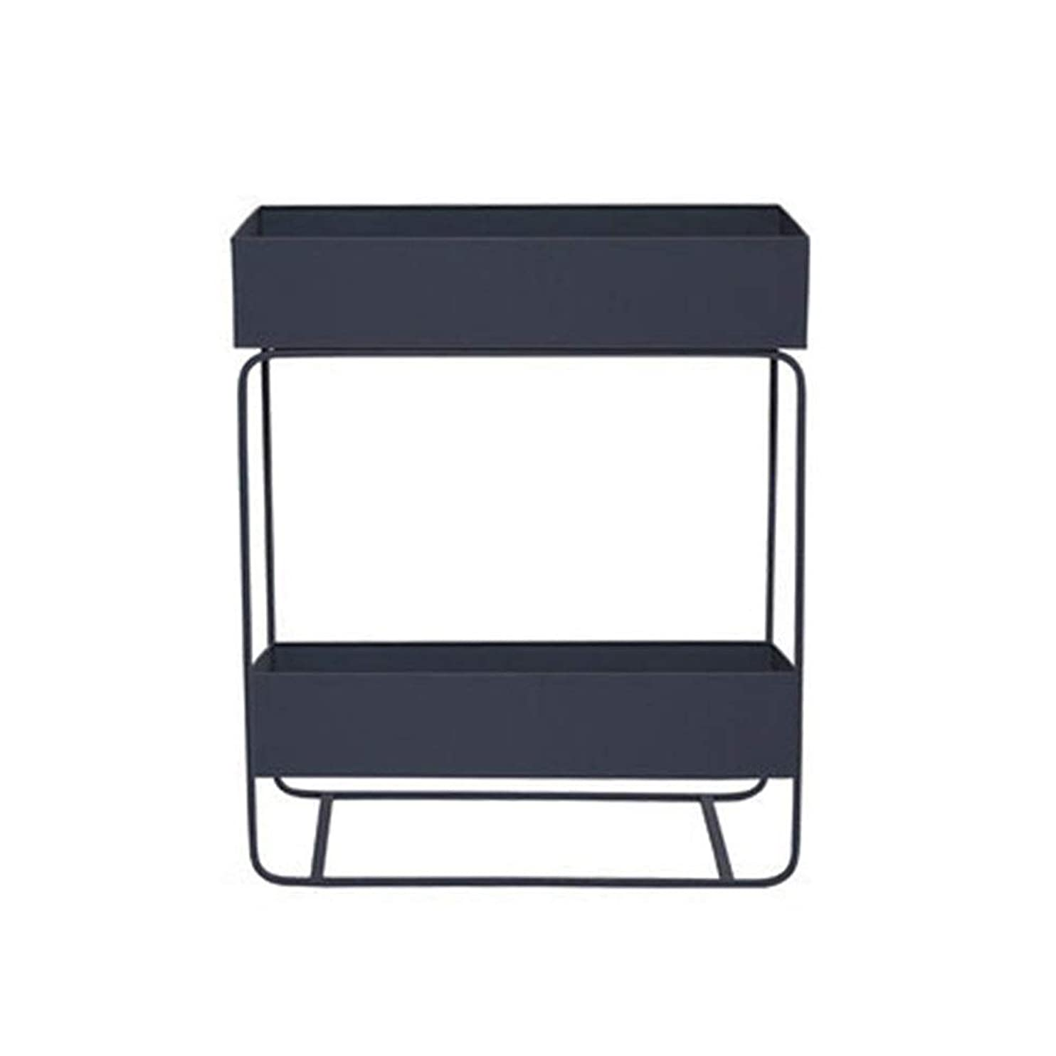 雷雨ロボット作成する棚 居間の台所自由な地位のための多機能の2層の調節可能な棚の収納ラック レッジ、 (色 : グレー, サイズ : 25*60*74cm)