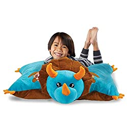 4. Pillow Pets Originals Jumboz Extra Big Blue Dino Plush