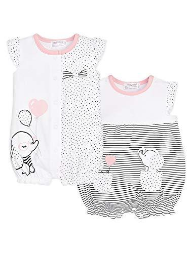 mayoral 29-01718-047 - Lot de 2 Pyjamas Courts pour Bébé Fille 6-9 Mois Nero