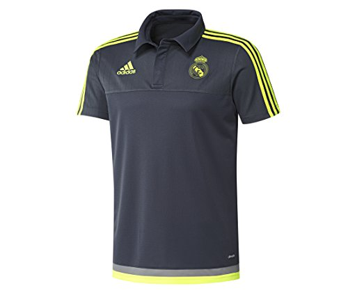adidas Real Madrid Cotton Sudadera, Hombre, Multicolor (Deepest Space F10 / Solar Yellow/Grey), L
