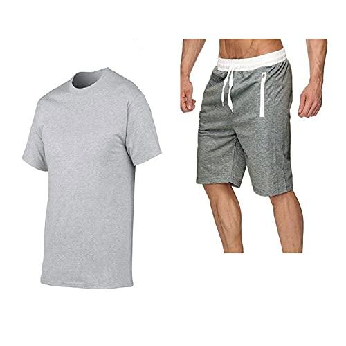 Camisetas para Hombre, Manga Corta, Camisetas Deportivas, Ropa de Trabajo, Camisetas de Entrenamiento para Correr, Pantalones Cortos de Entrenamiento de Gimnasio para Correr Ligeros para Hombres