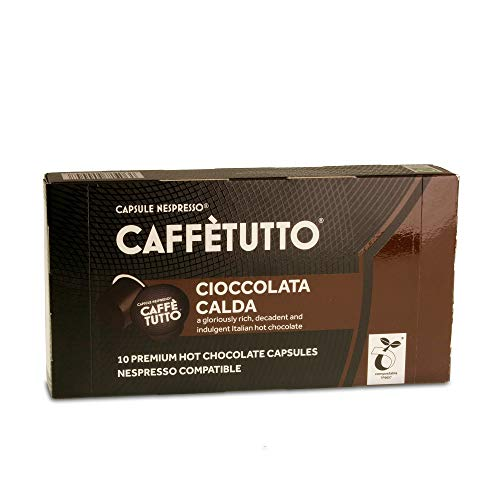 Caff?tutto Plastic Free Nespresso Compatible Capsules | Hot Chocolate - Cioccolata Calda | Compostable - Biodegradable - Climate Neutral