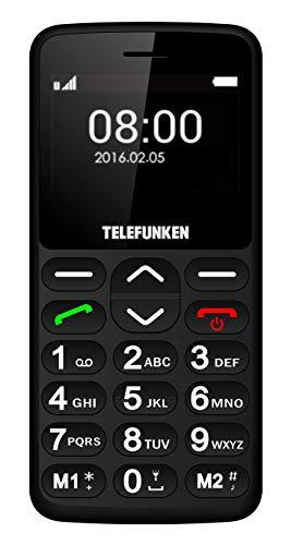 TELEFUNKEN - Teléfono Móvil Telefunken TM 140 Cosi Negro - Teléfono Libre - Comprar Al Mejor Precio