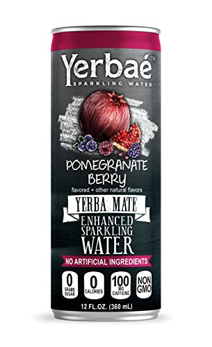 Yerbaé Enchanced Sparkling Water Pomegranate Berry,12 Oz. Cans (Pack of 9)
