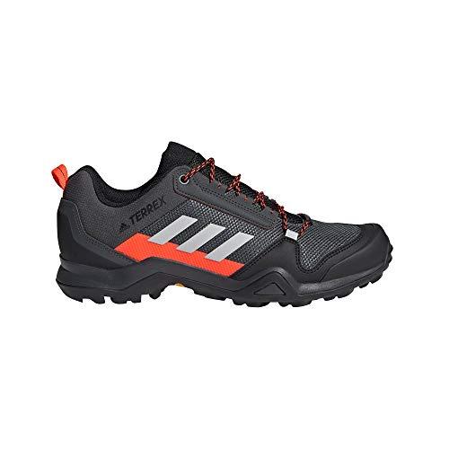 adidas Terrex AX3, Zapatillas de Senderismo Hombre, Grpudg/Griuno/Rojsol, 45 1/3 EU