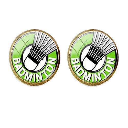 Badminton-Ohrringe, Geschenk für Freunde, Vintage-Stil, Foto-Schmuck, handgefertigter Schmuck