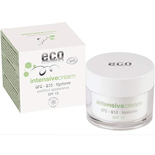 eco cosmetics Bio Intensivcreme Tagescreme mit OPC, Q10 und Hyaluronsäure, vegane Anti Faltencreme,...