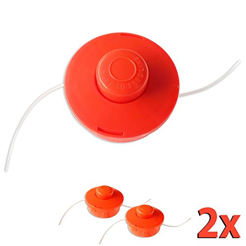 Nemaxx 2X FS1 Cabezal de Doble Hilo semiautomático - Cabezal de Corte de siega -Accesorios de Corte - Hilo de Nylon - Carrete para desbrozadora Gasolina - Naranja