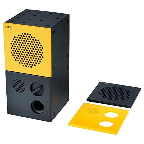 Lautsprecher, schwarz, gelb, montierte Größe: Breite: 20 cm, Höhe: 10 cm, Tiefe: 10 cm
