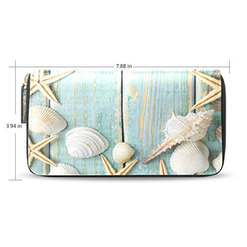 XiangHeFu vrouwen portemonnee clutch tas houten plank schelp ritssluiting leer