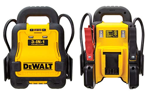 Price comparison product image DEWALT DXAE20VBB Automotive Battery Booster and 12V Jump Starter with USB Power Station: Powered by Standard 20V MAX and FLEXVOLT Tool Batteries