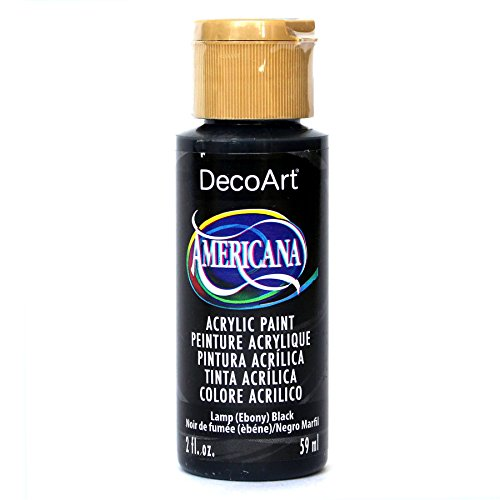 DecoArt Americana 2 oz multifunctionele acrylverf, 59 ml, Lamp Ebony zwart