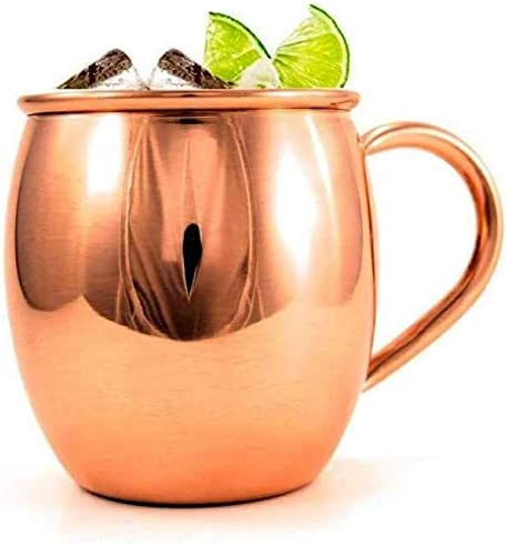 ETROVES Handmade 16 Oz Portland Mall Pure Copper Mug Barrel w Moscow Limited time sale For Mules