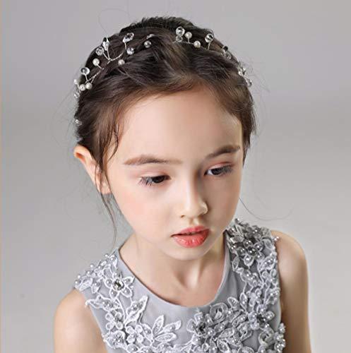 Meisjes hoofdtooi jurk accessoires Koreaanse fluit kinderen prinses haaraccessoires bloemenmeisjes sieraden klein meisje prestaties hoofdband hoofd ketting