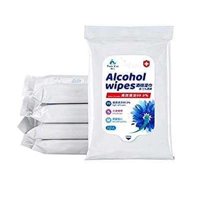 Clinell Body Care Wipes, Pack of 10 * 10 Universal Wipes - Adhesive 75% Isopropyl Alcohol from VANVENE