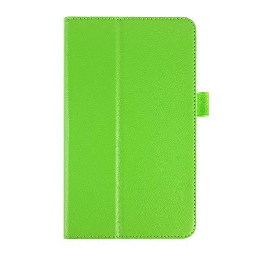 para LG G Pad 8.0 V480 V490 Funda Funda de Cuero sólido Filchi Litchi Funda Protectora de Cuero para LG G Pad V480 Funda de 8.0 Pulgadas-Verde