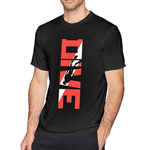 adaewwa Scuba Diving Camisetas de Manga Corta para Hombre