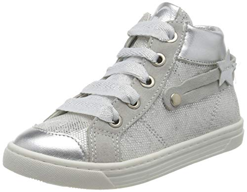 PRIMIGI Mädchen ALTA Bambina Hohe Sneaker, Silber (Argento 5427633), 24 EU