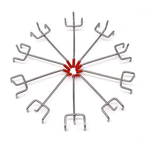 Ganchos para Tableros con Agujeros,JEANGO 10 PCS Ganchos para Panel Perforado para Perforada de Bricolaje Panel de Pared Estante de Exhibición Minorista Organizador de Garaje Gancho de Colgar