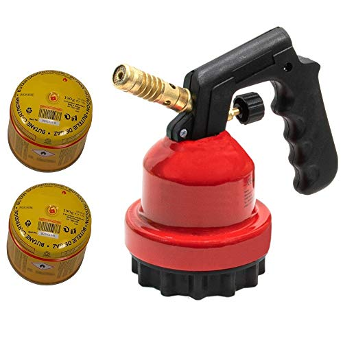 Megaprom Gasbrenner   Bunsenbrenner   Lötlampe   Lötbrenner   Kohleanzünder   Grillanzünder inkl. 2X Gaskartuschen