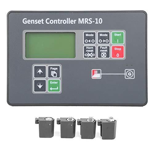Controlador de generador automático, generador diesel MRS-10 Controlador de arranque automático industrial, con pantalla de corriente alterna y protección