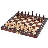LTCTL ajedrez Conjunto De Ajedrez De Madera Piezas De Ajedrez De Ajedrez De Madera Plegable Portátil Piezas De Ajedrez Hecho A Mano para Niños Juego de ajedrez (Color : Chess Set)