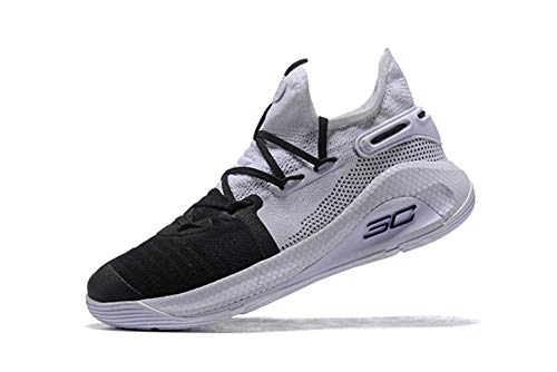 Bazi Sport Men's Low Basketball Sports UA Curry 6 Shoes 8.5 M US Black White