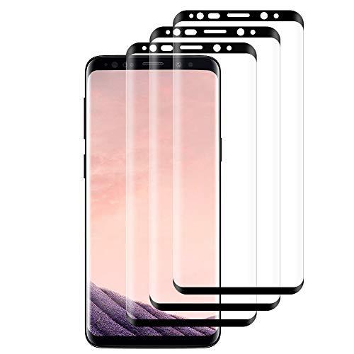 Hanbee 3-Pack Pellicola Vetro Temperato per Samsung Galaxy S8 Pellicola Protettiva per Samsung Galaxy S8, HD Trasparenza, 3D Copertura Completa,Anti-Graffi Pellicola per Samsung S8