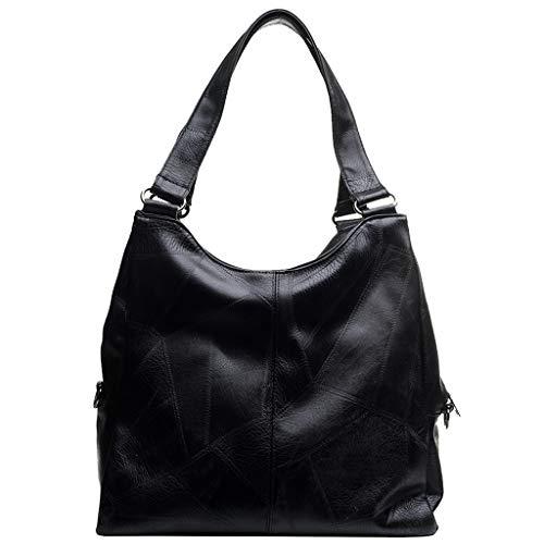 DDKK bags New Retro Leather Handbags for Women-Ladies Purses Satchel Shoulder Bags Tote Bag-Zipper Splice Solid Color