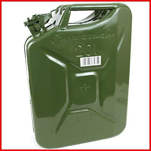 TEILE-24.EU Malinowski Benzinkanister Metall 20 L Stahlblech-Kanister Armeekanister GRÜN 20 Liter NEU
