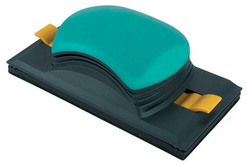 Wolfcraft 5890000 - Lijador universal 2K para tiras abrasivas 93 x 230 mm y rollo de papel de lija de 93 mm de ancho, para superficies y esquinas rectangulares 93 x 185 mm