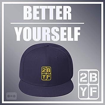 2BYF Navy Hat Yellow Logo