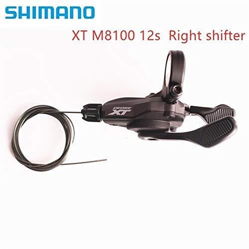 Shimano XT M8100 I-Spec EV 2x12 Velocidad Desviadores De La Bicicleta MTB Shifter Palanca SL-M8100 Shifter Palanca (Color : M8100 clamp 12s)