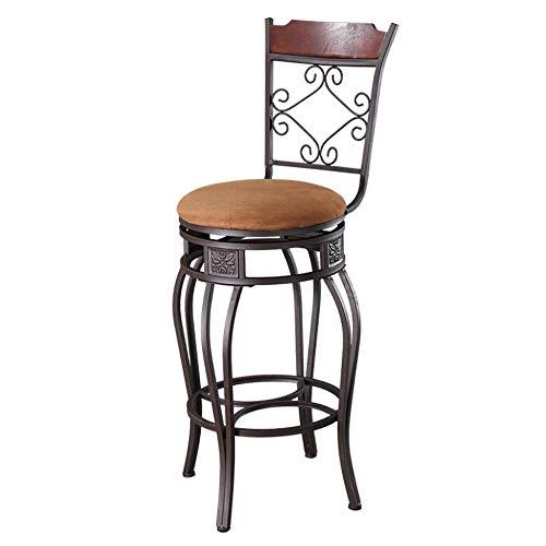 Tabouret de bar Chaise De Bar Rétro En Fer Forgé Chaise Haute Chaise De Bar 49x49x116cm Charge Maximale: 150kg