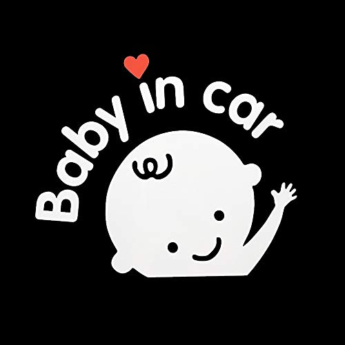 Aaron White Baby in Car Baby Safety Sign Car Sticker, Car Decal Sticker (1-Pack Boy)