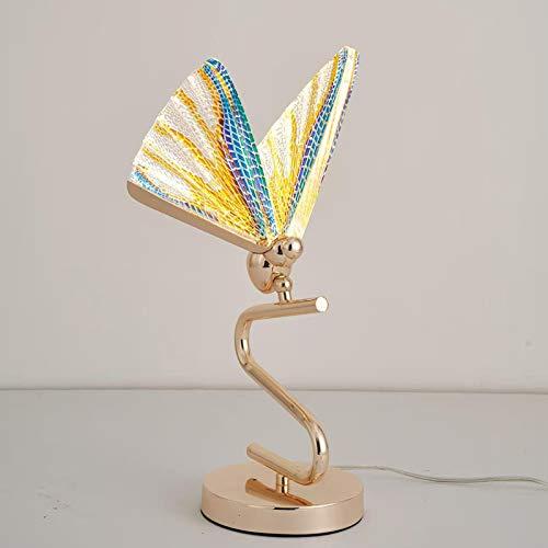 Lámparas De Noche Para Dormitorio Sala De Estar Simple Y Moderna Lámpara De Pie De Estudio Lámpara De Mesa De Mariposa Creativa Luz neutra Luz neutra coloreada