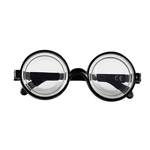 Boland 00371 - Brille Nerd, schwarz, Hornbrille, sympathischer Streber, Fachidiot, Sonderling, Karneval, Halloween, Fasching, Mottoparty, Verkleidung, Theater, Accessoire